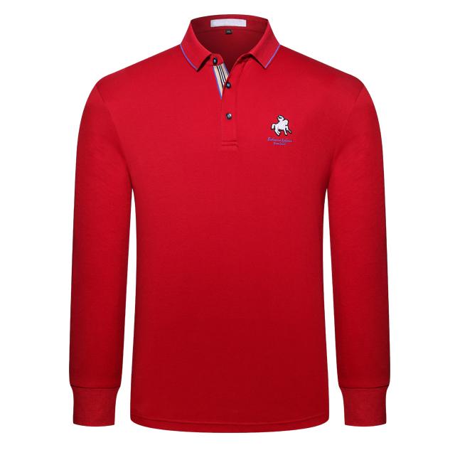 长袖POLO衫9811#红色