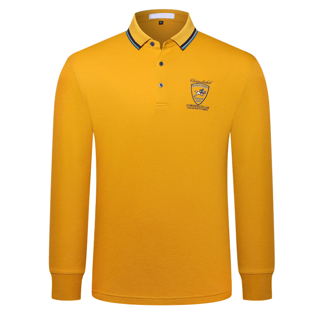 长袖POLO衫9811#黄色