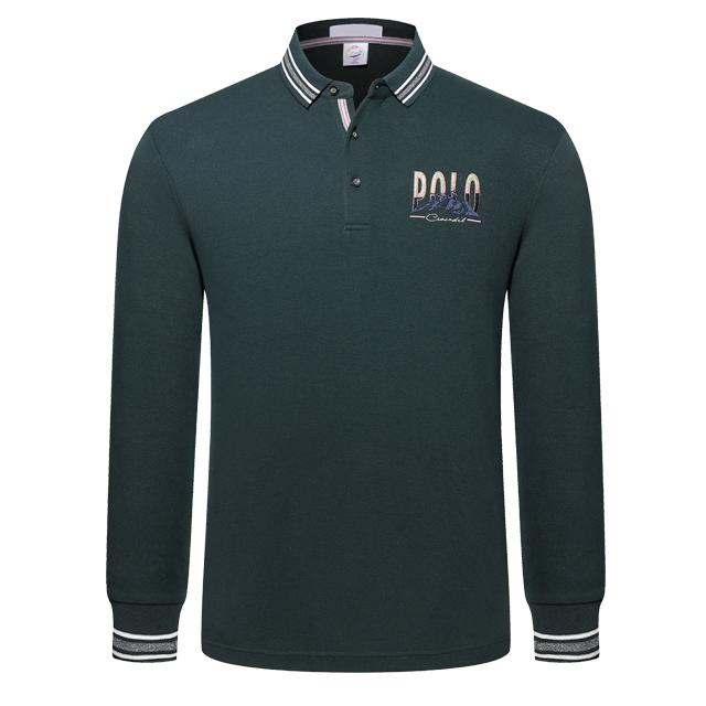 长袖POLO衫9811#绿色